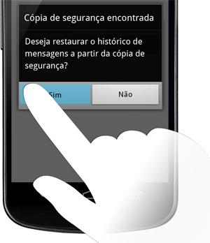 restaurar mensagens whatsApp